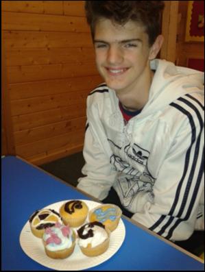 Daniel with cake