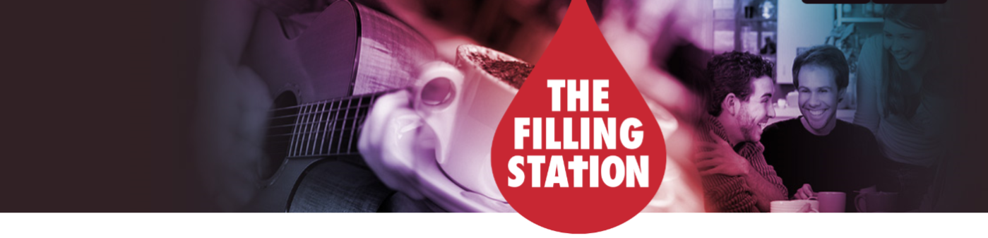 banner for the filling station