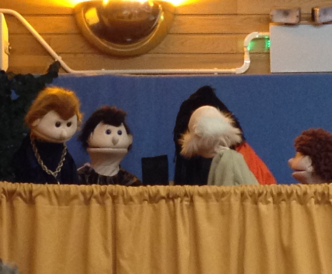 puppets at Messy Church